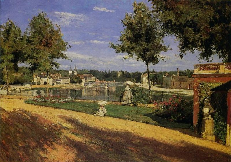 Fichier:Henri Rouart - Terrace on the Banks of the Seine at Melun.jpg