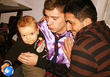 Gay Couple with child