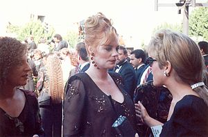 Marg Helgenberger on the red carpet at the 199...