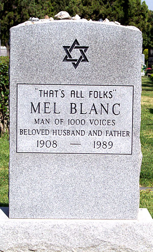 "Mel Blanc's headstone at the ""Hollywood F..."