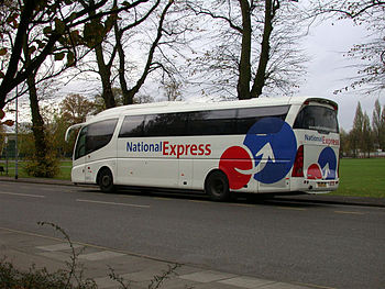 A Scania K124 EB Irizar of National Express si...