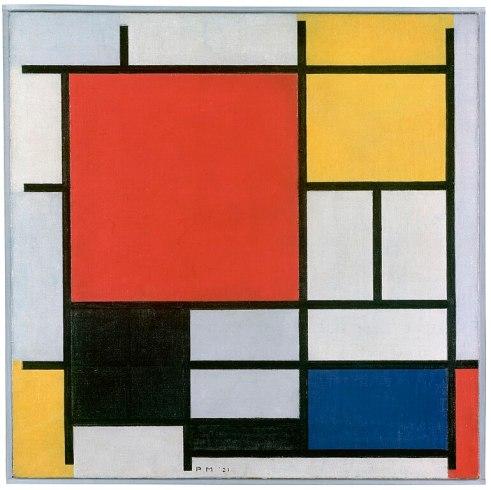 """Résultat de recherche d'images pour """"composition avec rouge jaune bleu et noir 1921"""""""