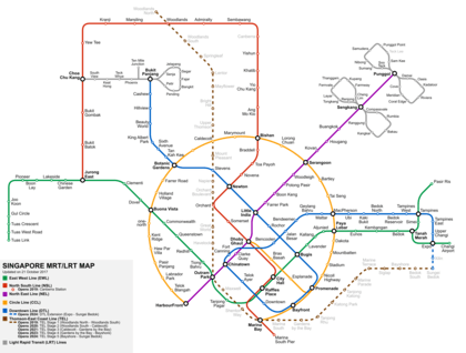 Mrt And Lrt System Map