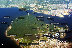 Stanley Park Labeled Aerial Map, by Soggybread