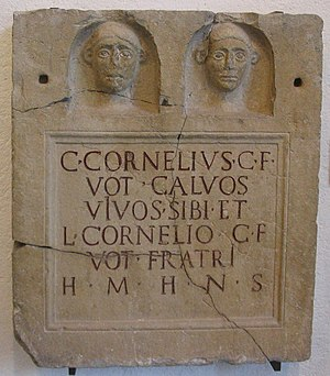 Tombstone of the brothers Gaius and Lucius Cor...
