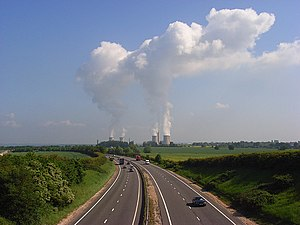 English: The A34, Harwell Viewed from the brid...