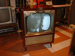 "English: This is a 1957 Zenith TV with ""S..."