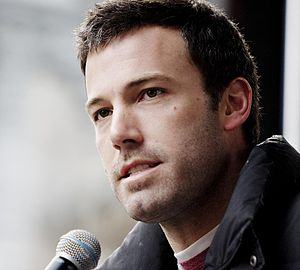 Ben Affleck speaking at a rally for Feed Ameri...