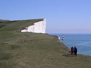Beachy Head and Belle Tout Lighthouse, Sussex/ UK