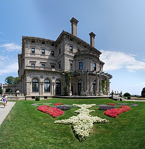 English: Gardens at The Breakers in Newport, R...
