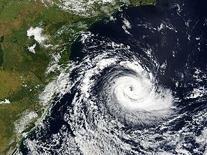 Satellite view of cyclone.