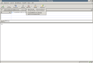 Enigmail OpenPGP Pulldown menu in Thunderbird ...