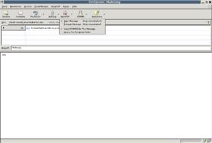 Enigmail OpenPGP Pulldown menu in Thunderbird ...