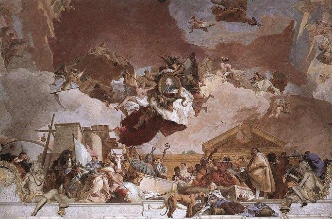 Giovanni Battista Tiepolo - Apollo and the Continents (Europe, overall view) - WGA22331