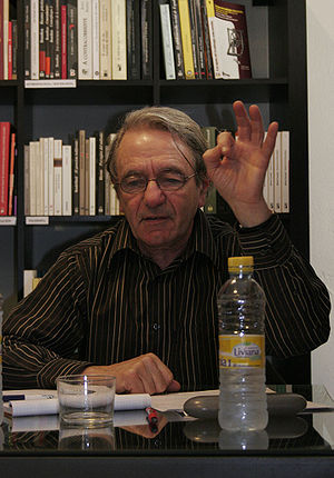 English: Jacques Rancière at a conference held...