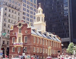 """Old State House"", Boston, site of o..."