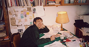 Orhan Pamuk, turkish novelist. The photo is de...