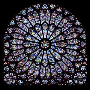 Rayonnant north rose window of the Cathédrale ...
