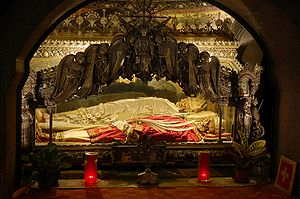 Crypt of bishop Ambrose and two marthyrs, Sain...