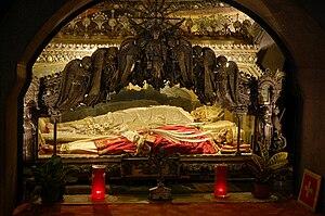 Crypt of bishop Ambrose and two marthyrs, Sain...
