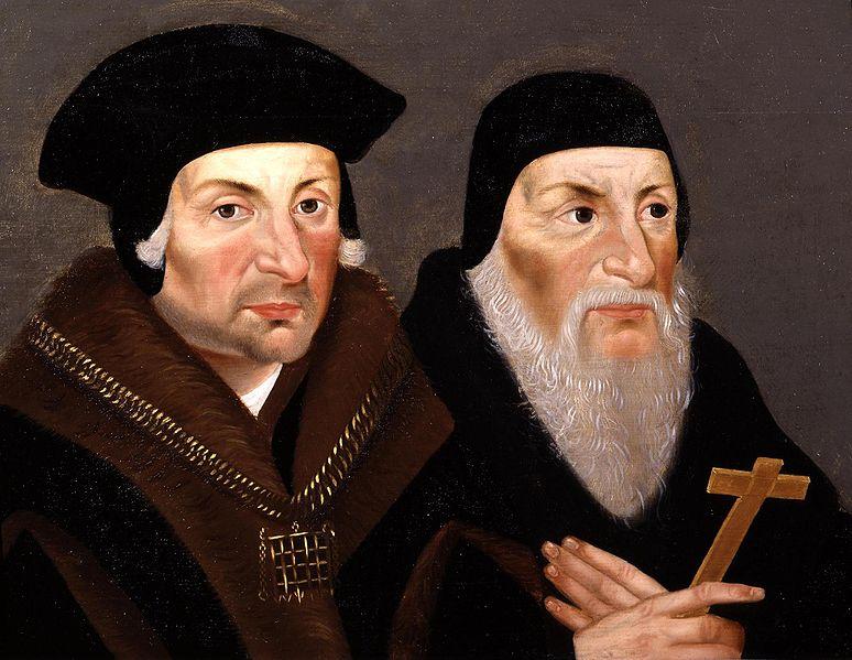 Sir Thomas More and Bishop John Fisher via Wikipedia