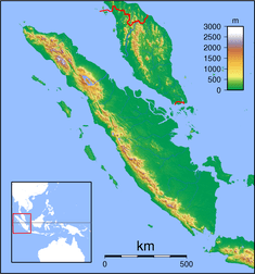 PDG is located in Sumatra Topography