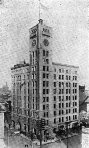 The Oregonian newspaper building, since demoli...