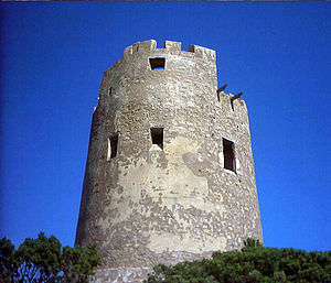 English: Muertas Tower - Villaputzu, province ...