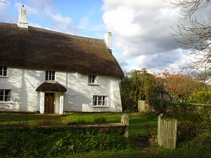 The front of Totleigh Barton Manor, Devon, one...