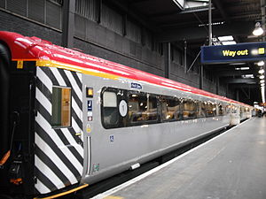 English: Virgin Trains Mk3 FO at Euston