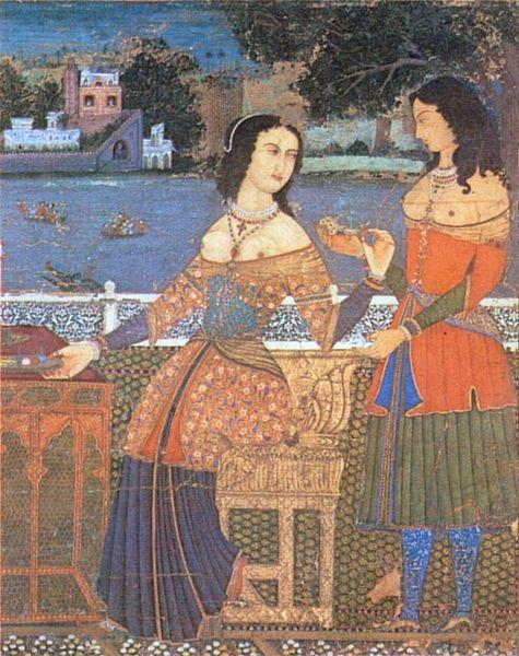 Portuguese women in Goa, India, 16th century.