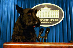 Barney, with White House Press Secretary trave...