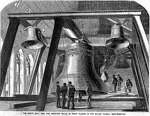 English: Engraving of the second 'Big Ben', ta...
