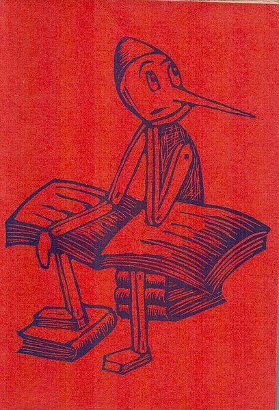 File:C. COLLODI, Le avventure di Pinocchio (prefazione di Attilio Momigliano, lineografie di B. Albi Bachini di anni 15, Editrice La Tifernate, Libreria G. PACI, Unione Arti grafiche, 1944-1948) edizione rossa.jpg