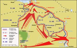 Các mũi tấn công của Hồng quân ở phía Nam Hồ Ilmen từ ngày 7 tháng 1 đến 21 tháng 2 năm 1942