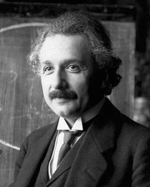 Albert Einstein during a lecture in Vienna in ...