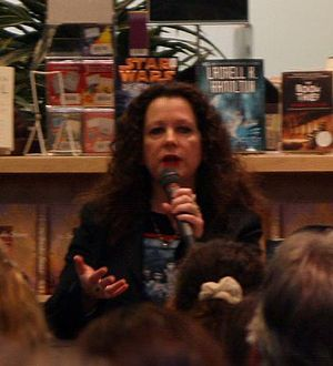 American writer Laurell K Hamilton at a book s...