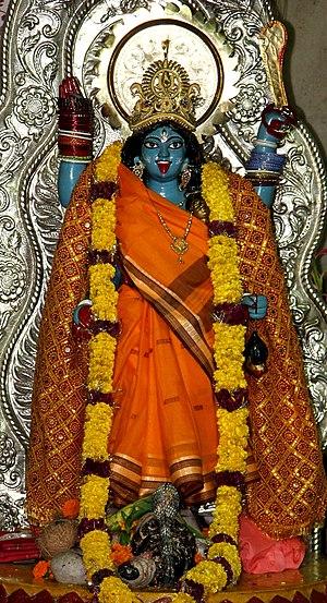 English: Photograph of the Goddess Kali Mata s...