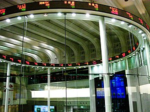 English: Tokyo Stock Exchange's so-called Mark...