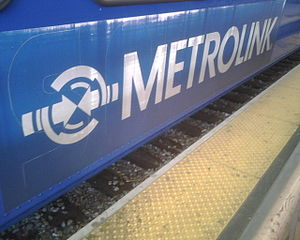 Detail of the center Metrolink labels that wer...