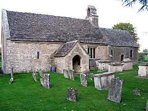 English: The church of Ampney St Mary