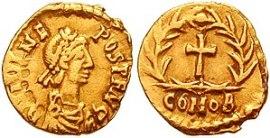 moneta (tremisse) di Giulio Nepote