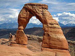Delicate Arch in Arches National Park near Moab