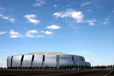 The University of Phoenix Stadium in Glendale,...