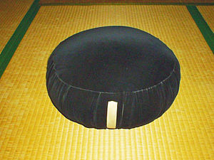 Zazen cushion used by Soto-zen school.