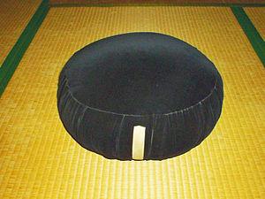 Zazen cushion used by Soto-zen school.