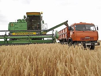 Зерноуборочный комбайн — Википедия
