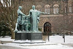 Alma Mater statue (Taft, 1929) in front of Alt...