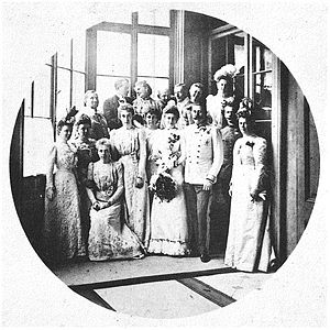 Wedding picture of Archduke Franz Ferdinand of...