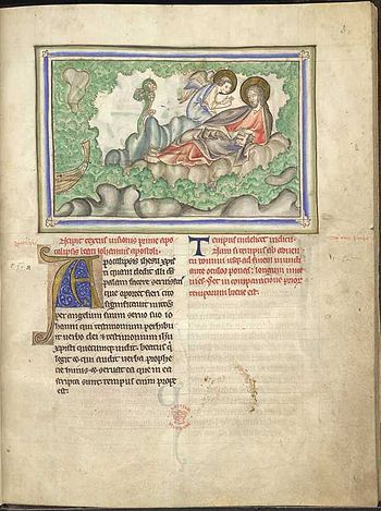 The Angel Appears to John. The book of Revelat...